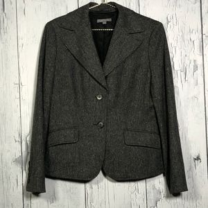 Ann Taylor Gray Wool Classic Blazer SZ 10 EUC